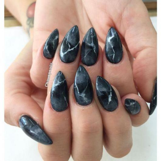 nail art unha stiletto