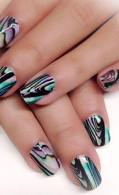 unhas coloridas nail art
