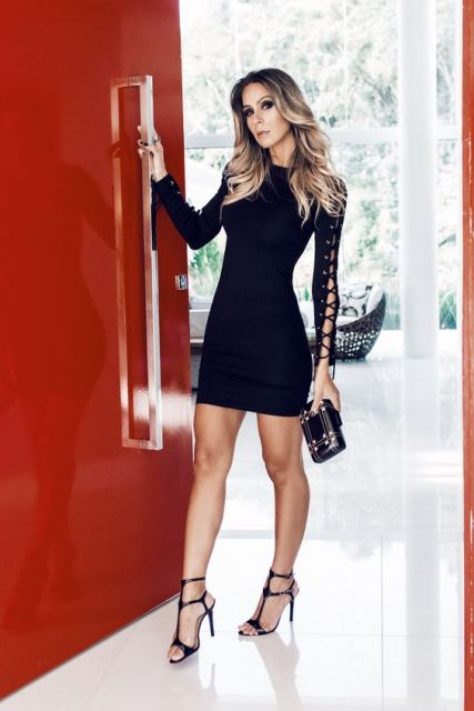 vestido preto balada