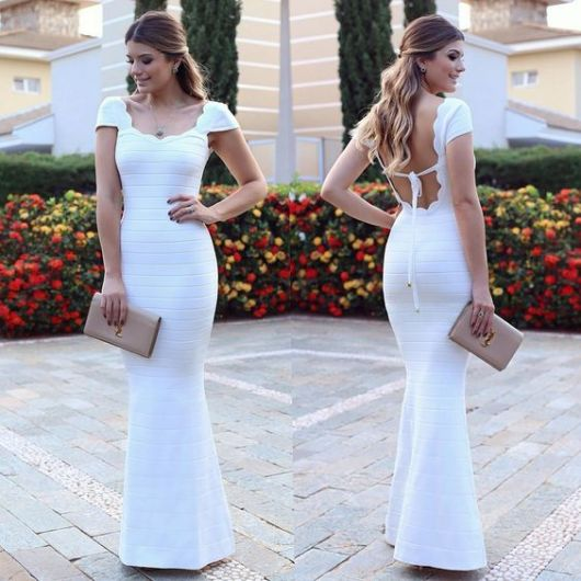 Vestidos longos de festa branco