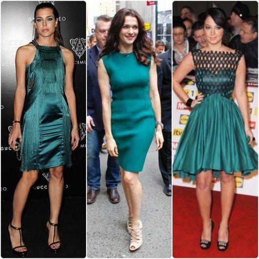 Vestidos verde festa
