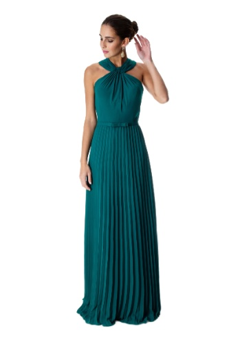 Vestido de renda verde petroleo