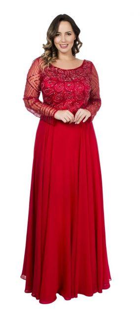 vestido longo bordado plus size