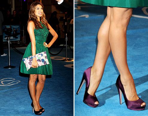 vestido-de-formatura-verde-sapato-roxo