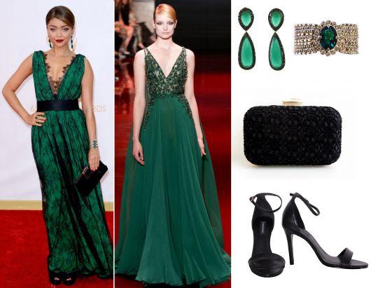 vestido-de-formatura-verde-sapato