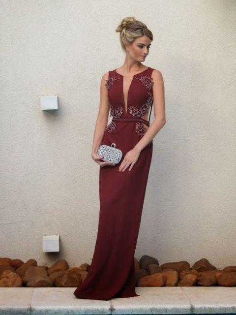 vestido-de-madrinha-vermelho-bordo-longo