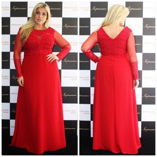 vestido-de-madrinha-vermelho-modelo-plus-size