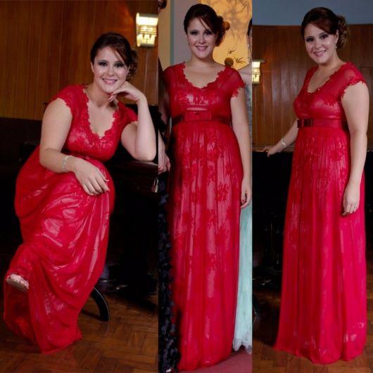 vestido-de-madrinha-vermelho-plus-size-renda