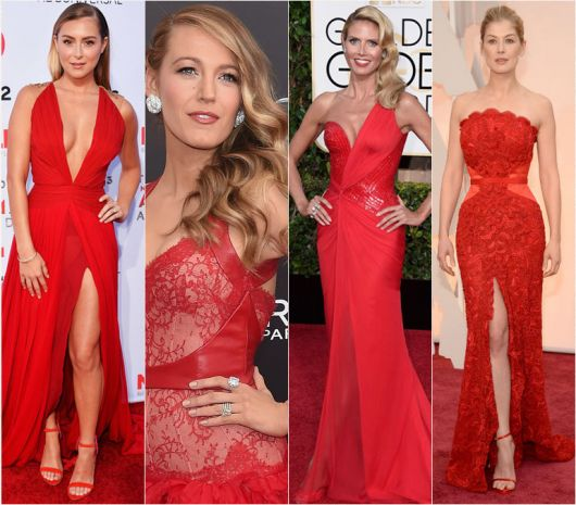 Linda de vestido rojo - 5 8