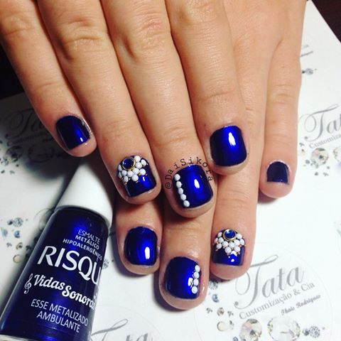 HD wallpapers unhas decoradas azul
