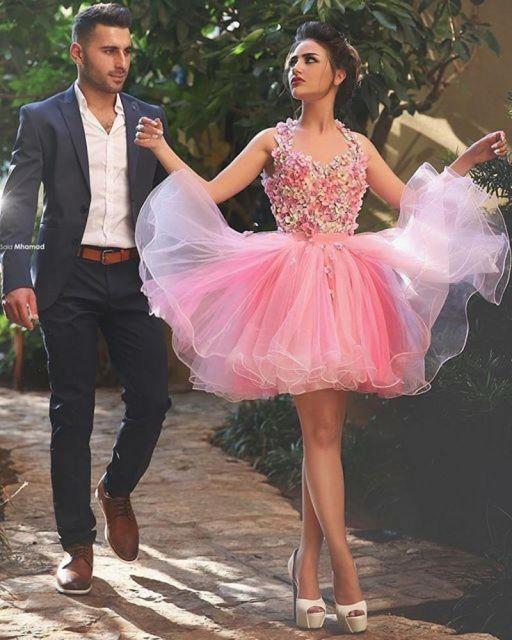 vestido-de-15-anos-rosa-claro-curto