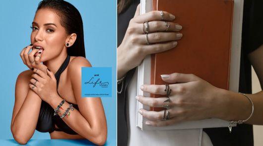 anéis de falange da marca Vivara