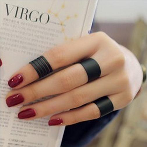 modelos de anéis de falange pretos