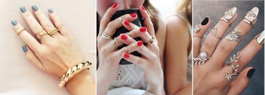 modelos de anéis de falange elegantes