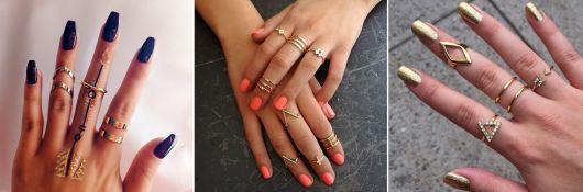 modelos de anéis de falange minimalistas