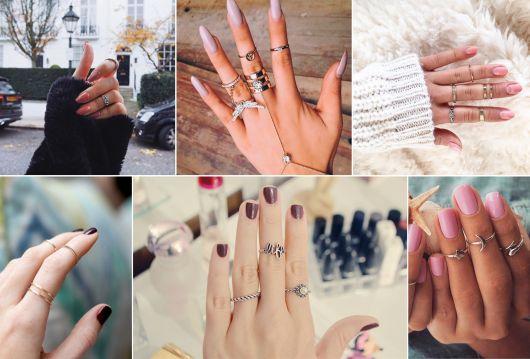modelos de anéis de falange delicados