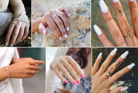 modelos de anéis de falange com corrente