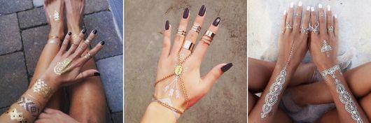 modelos de anéis de falange com flash tattoo
