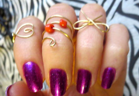 anéis de falange femininos