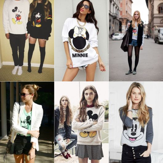blusa do mickey e minnie para usar no inverno