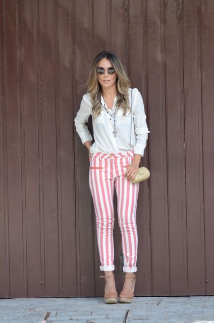 calça rosa