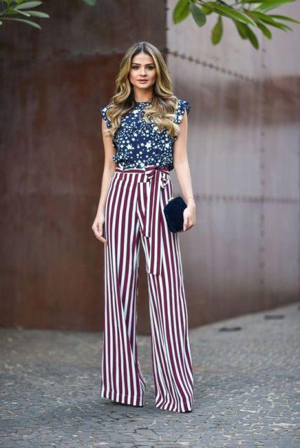 look calça pantalona