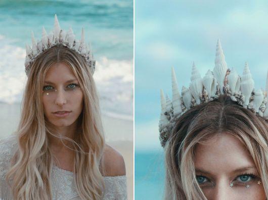 modelos de coroa de sereia branca