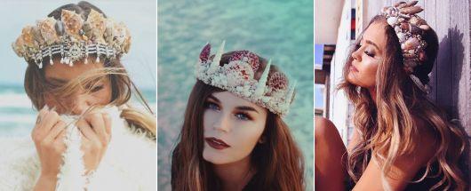 modelos de coroa de sereia colorida