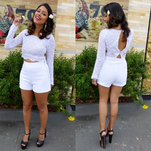 look com short branco