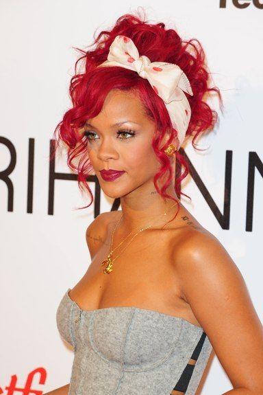 penteado Rihanna