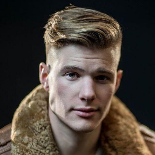cabelo com topete homem