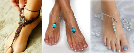 Pulseira de Pé / Sandálias Descalças: O que são e + 48 modelos lindos!