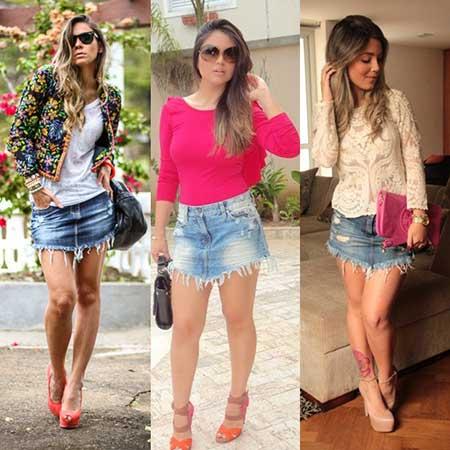 Saia Jeans Curta: Como usar? Dicas, modelos, DIY e 125 looks!