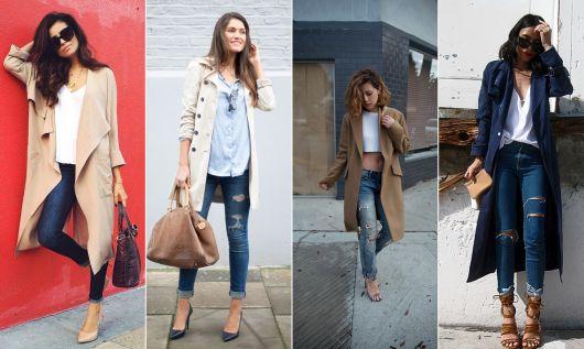 exemplo de dicas de look de sobretudo feminino com calça jeans