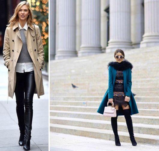 exemplo de dicas de look de sobretudo feminino com bota