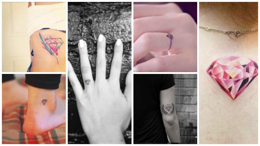Tatuagem de diamante: significados, modelos e 77 tattoos lindas!