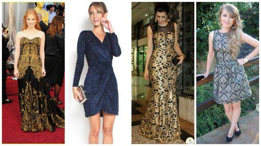 modelos vestido brocado