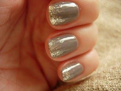 nail art cinza