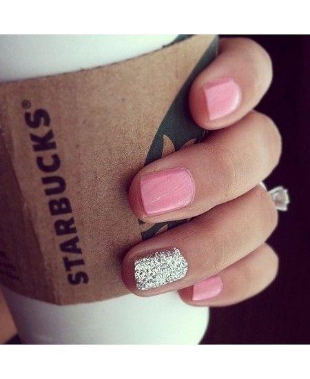 unha rosa nail art
