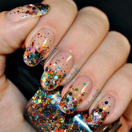 glitter colorido
