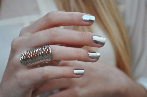 unha metalizada prata