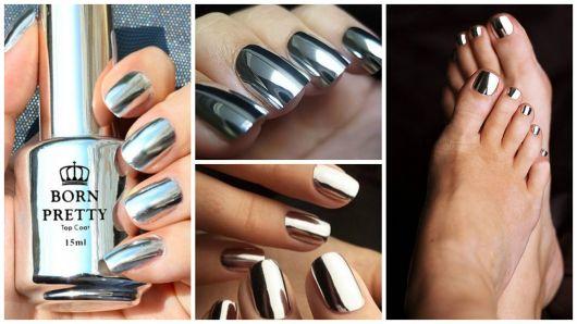 unha cromada prata