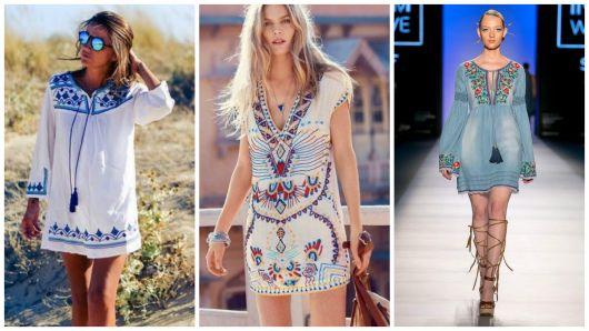 modelos vestido curto bordado