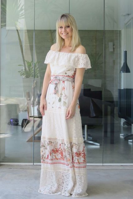 vestido longo ciganinha