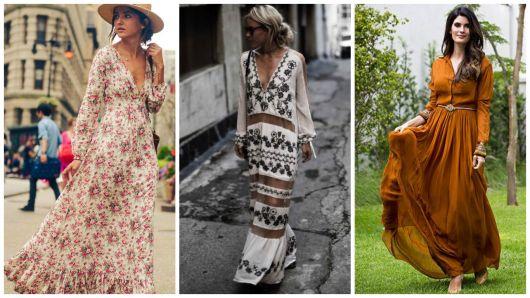 vestidos com manga longa