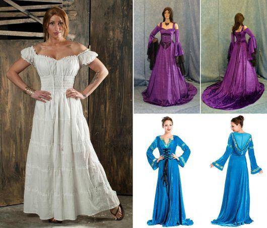 exemplos de vestido de época da loja Atelier Cigana da Estrada