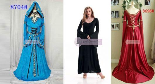 exemplos de vestido de época da loja Cat Shopping
