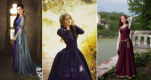 modelos de vestido de época medieval