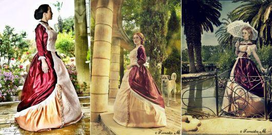 modelos de vestido de época romântica