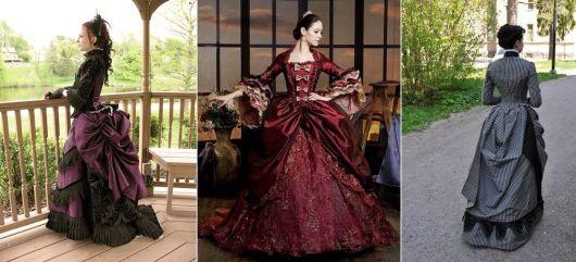 modelos de vestido de época vitoriana